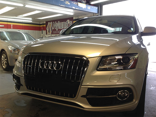 Nylunds Collision expertly repairs Audi