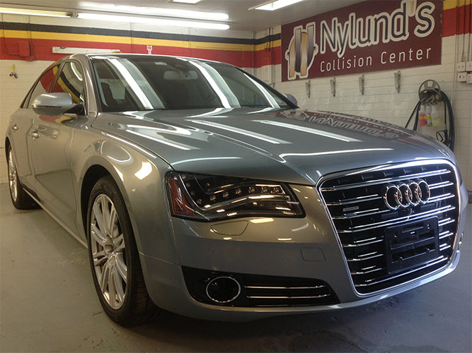 Nylunds Collision repairs Audi luxury model cars