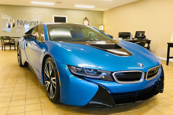 BMW i8 repaired by Nylund's Collision Center Nylund's Photo Gallery