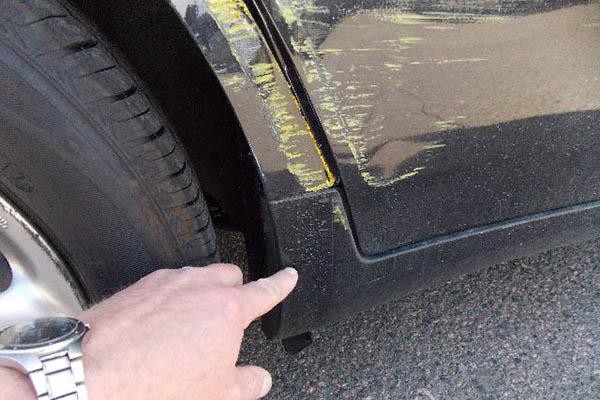 This 2007 Infiniti G35x has rear door damages